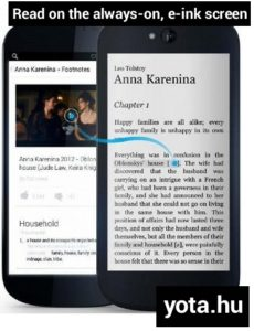read on the always-on, e-ink, black and white, back screen of Yotaphone 2